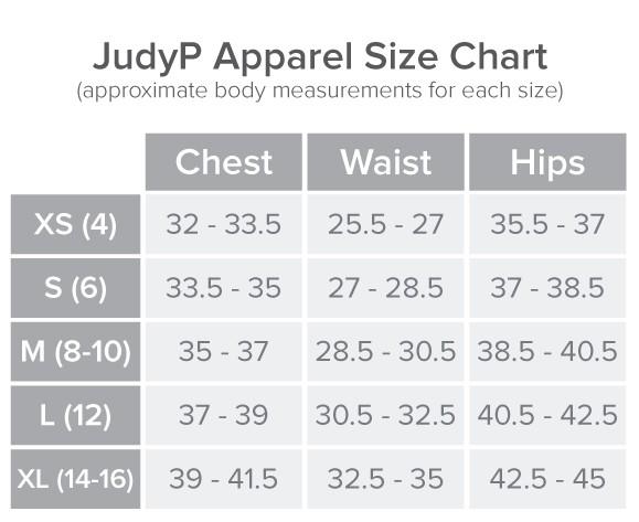 JudyP Size Chart