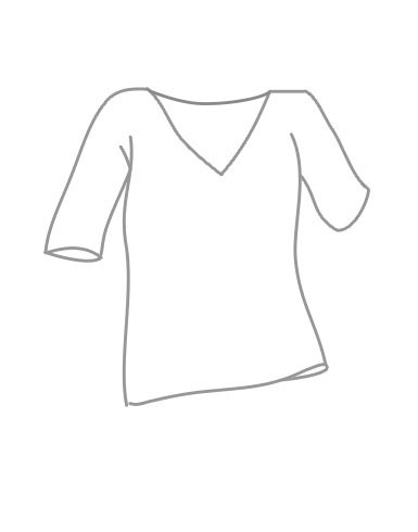 <strong>RELAXED</strong> Fit V-Neck 3/4 Sleeve